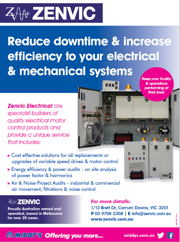 Zenvic Electric is proud to be working with Middy's Data & Electrical